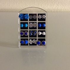NWT Bundle 12 studs display earring blue white gem Bundle set of 12 pairs New with Tags Boutique Quality stud earrings on display stand. All items are lead & nickel free & hypo-allergenic. You will receive all the earrings shown and display stand. NOT sold individually! Earrings Cannot be traded/swapped for other colors/styles from other sets in my closet. No trades or holds! Price is FIRM! These earrings sets are the only sets that include the display! Do not inquire about the displays from…