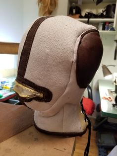 Process of conceiving new sheepskin bondage mask by me