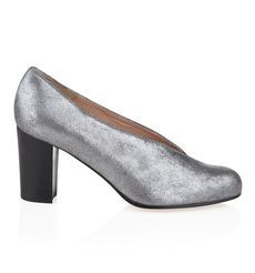 NW3 Mable Shoe by Hobbs - Silver high heel