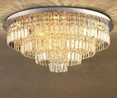 Pinterest Round Crystal Chandelier, Ceiling Lamp, Ceiling Lights, Bulb, Led, Crystals, Lighting, Detail, Modern