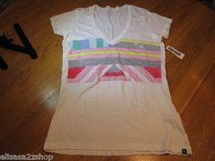 Hurley Juniors Womens XL t shirt surf skate white NWT^^
