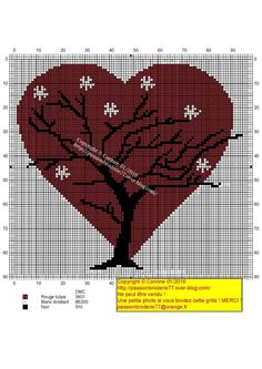 Красное сердце Дерево