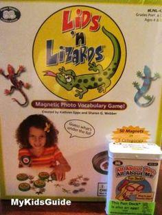 Educational Games for kids: Super Duper Lids n Lizards & Fun Deck Cards + Giveaway