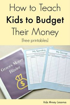 How to Teach Your Kids to Budget Their Money [with free budgeting worksheets for…