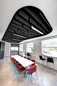 Acoustical Ceiling inside Doc Magics Offices; office enviornment