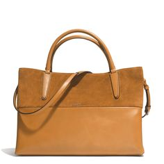 Coach Large Retro Glove Leather And Suede Borough Bag | Satchels & Carryalls | Handbags & Accessories | Shop The Exchange