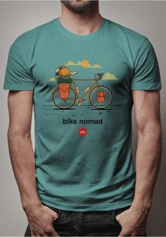 Bike Nomad - Cicloturismo e Bikepacking Bike Silhouette, Bicycle Tattoo, Bicycles, Cool T Shirts, Doodle, Netflix, Cycling, Men's Fashion, Printed
