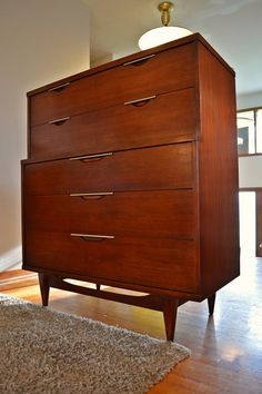 Mid Century Kent Coffey Tableau Highboy Dresser by DirtyGirlsAntiques on Etsy