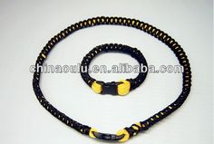 Braided Titanium Sports Bracelet  Custom Titanium Rope Necklace  tri braided titanium necklace 100% factory