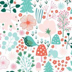 Cathy Nordström|Scandinavian Pattern Collection|Scandinavian Pattern Collectionは、テキスタイルパターンを中心とした北欧デザインコレクションです。 Graphic Design Pattern, Graphic Patterns, Textile Patterns, Flower Patterns, Print Patterns, Scandinavian Fabric, Scandinavian Pattern, Scandinavian Design, Bird Illustration