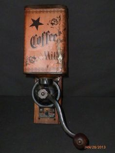 Antique coffee grinder https://www.facebook.com/pages/Coffee-Society/651773478236556