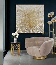 Modern Wall Decor, Modern Artwork, Gold Leaf Art, Texture Painting, Gold Paint, Large Wall Art, Textured Walls, Original Paintings, Original Artwork