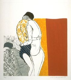 Masuo Ikeda (Japanese, 1934–1997). Moment of Love, 1966. Color aquatint and drypoint. Museum Purchase, Achenbach Foundation for Graphic Arts Endowment Fund. 1970.25.48