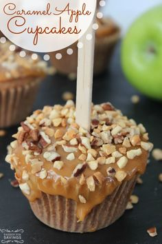 Caramel Apple Cupcakes Recipe! The perfect fall and Thanksgiving dessert recipe!