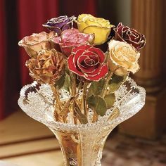Hand- Dipped Gold roses.. so beautiful