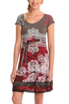 Desigual Dress Paris (Fresa) 40V2880 | Fun Fashion | Canada