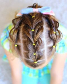 Little Girl Hairstyles - Unique Little Girl Braids Little Girls Ponytail Hairstyles, Little Girl Ponytails, Kids Braided Hairstyles, Flower Girl Hairstyles, Girls Braids, Hairstyles For School, Pretty Hairstyles, Easy Hairstyles, Toddler Hairstyles
