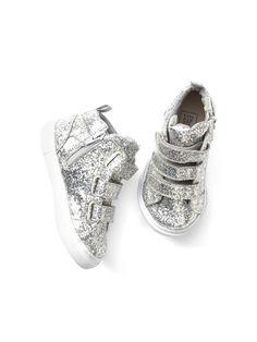 ea0e0dd0264 Glitter Strappy Hi-Top Sneakers in 2019