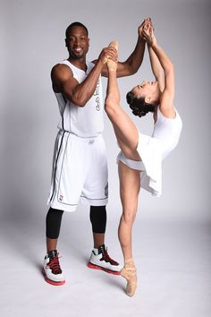 ballerina with Dwyane Wade
