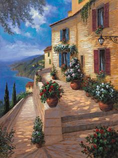 Landscapes - Tuscany - Path to the Ocean - McNaughton Fine Art Company