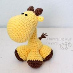 Pocket Giraffe amigurumi crochet pattern to purchase by A Morning Cup of Jo Creations Yarn Animals, Crochet Animals, Crochet Toys, Safari Animals, Desert Animals, Crochet Giraffe Pattern, Crochet Patterns, Knitting Patterns, Grandma Crafts