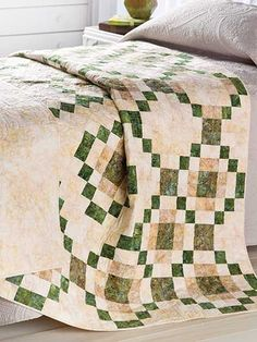 Quilting - Bed Quilt Patterns - Pieced Quilt Patterns - Irish Eyes