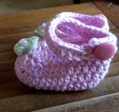Pink Mary Jane Baby Booties COTTON Baby Shoes by QuiltedCupcake