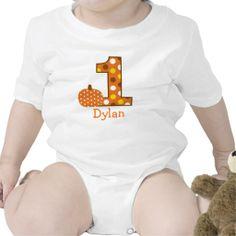 Fall Pumpkin Personalized Birthday Baby T-Shirt