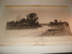 ANTIQUE LISTED J. O. ANDERSON PENCIL SIGNED ETCHING 1894 RADTKE LAUCHNER (09/13/2011)