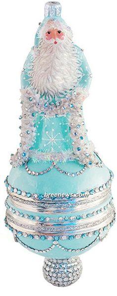 Wharton Claus (Turquoise) Patricia Breen Designs (Silver, Snowflakes, Turquoise, Santa, Ornament)