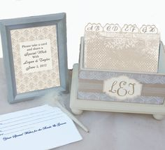 Wedding Guest Book Box Set Country Chic Cream and by NandJDesigns, $65.00
