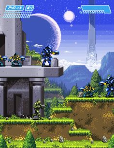 """""""Super Halo"""" A what-if pixel drawing to show what Halo would look like on the Super Nintendo. http://jnkboy.deviantart.com/gallery/#/d4ldmpn"""