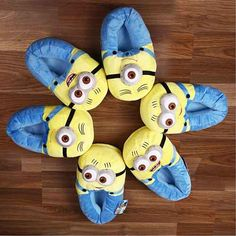 Minion Slipper Audlt Plush Stuffed Funny Ciabatte Minions Jorge Animal Warm Winter Home Slippers Women Men Zapatillas Minions Minion Shoes, Cartoon Toys, Winter House, Gift Store, Cool Things To Buy, Stuff To Buy, Winter 2017, Womens Slippers, Minions