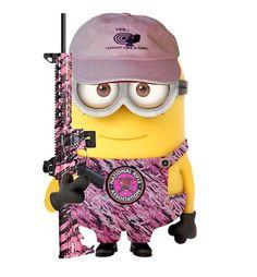 Pink camo minion
