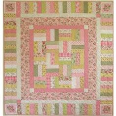 BABY QUILT- I like this pattern.  I'll have to pass it along to my mother-in-law someday