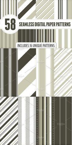 Seamless Digital Paper Patterns 2. Patterns. $5.00