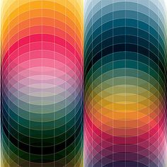 Illlustrations by Andy Gilmore. This brilliant and colourful art takes you on a geometric and kaleidoscopic visual experience. Being a musician, he's inspired by the physics of sound and acoustics. Web Design, Retro Design, Design Art, Design Color, Favim, Art Furniture, Geometric Art, Op Art, Lettering
