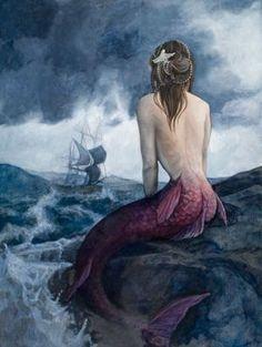 Art by Jennifer Quach #mermaid #fantasy #blue by annette