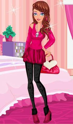 Atrevete a #vestir con el #estilo #pink  http://www.juegos-vestir.net/jugar/mi-estilo-pink