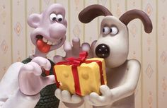 Wallace and Gromit cheese gift.