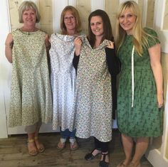 Very proud ladies after completing their gorgeous dresses on the 'Make a Dress in a Day' workshop! I think you will agree our sewing tutor Holly looks very proud of her students! Dressmaking, Needle Felting, Workshop, Students, Paper Crafts, Shirt Dress, Knitting, Sewing, Lady