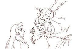 The sketch | Beauty and the beast sketch by MaryKms