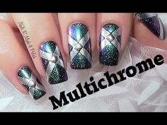 Einfaches Multichrome Nageldesign / Easy Fall Nail Art Design Tutorial /...