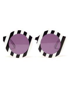 'Peggy' Round Acetate Sunglasses