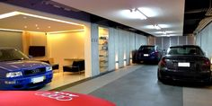 Garage Design:  I like the compartments to this garage, very flexible.