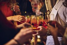 Cointreau Berry Rickeys brought guests together beneath garden lights.