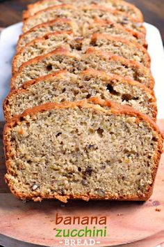 Sweet and nutty, this Banana Zucchini Bread is a great breakfast or dessert…