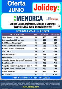 Of. Junio Menorca desde 493€ Tax incl. Salida Jueves desde Bio en vuelo especial directo Air Europa ultimo minuto - http://zocotours.com/of-junio-menorca-desde-493e-tax-incl-salida-jueves-desde-bio-en-vuelo-especial-directo-air-europa-ultimo-minuto/