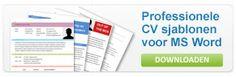 75 voorbeelden van originele CV's ter inspiratie! #CVtips #Sollicitatietips