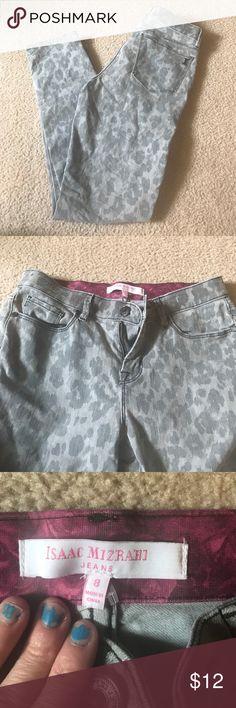 🌹gray leopard skinny jeans🌹 🌹gray leopard skinny jeans🌹size 8 stretch straight leg super cute Jeans Skinny